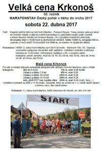 Pozvánka na běžecký závod
